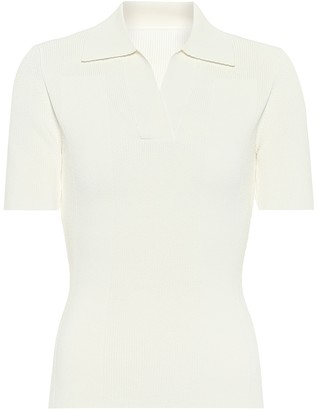 Jacquemus La Maille open back polo jersey top