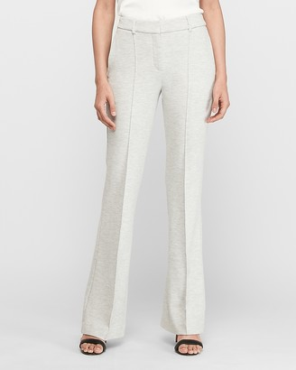 Express High Waisted Heathered Knit Flare Pant