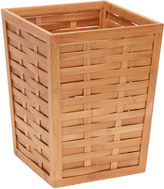 Household Essentials Bamboo Trash Can