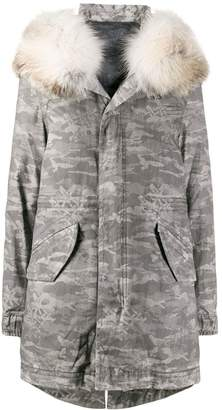 Mr & Mrs Italy camouflage print down parka