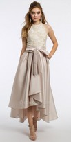 Camille La Vie Embroidered High Low Prom Dress