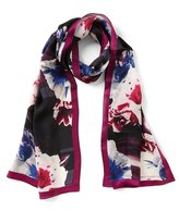Vince Camuto Floral Silk Oblong Scarf