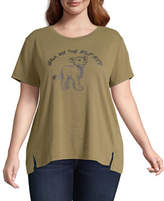 Disney Collection-Juniors Womens Crew Neck Short Sleeve The Lion King Graphic T-Shirt