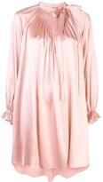 ADAM by Adam Lippes bow neck silk mini dress