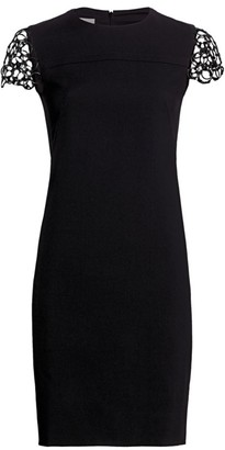 Akris Punto Chain Shoulder Shift Dress