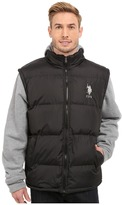 U.S. Polo Assn. Puffer Vest with Fleece Sleeves and Hood