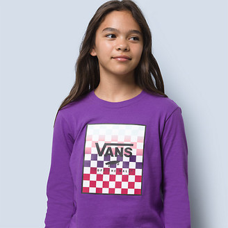 Vans Girls Boxed In Gradient Long Sleeve Tee