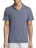 Onia Shaun Striped Polo