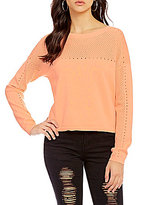 GB Cropped Textured Sweater