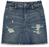 Arizona Destructed Denim Skirt-Juniors