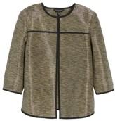 Ming Wang Women's Metallic Tweed Jacket