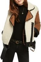 Scotch & Soda Shearling Moto Jacket
