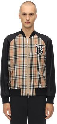 Burberry Tb Logo Embroidery Techno Bomber Jacket