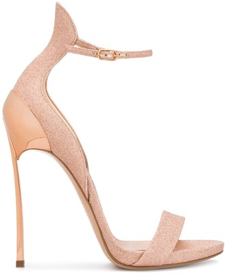 Casadei glitter stiletto sandals