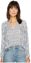 Lucky Brand Smocked Peasant Top Women's Clothing