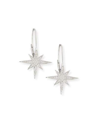 Sydney Evan Pave Diamond Starburst Earrings