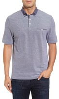 Thomas Dean Men's Button Down Polo
