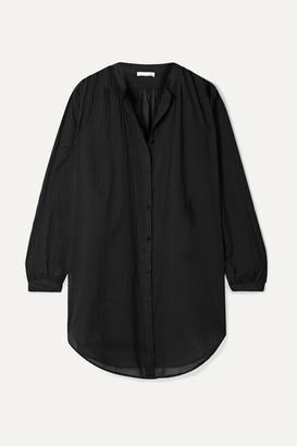 Skin - Brea Crinkled Cotton-voile Shirt - Black