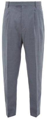 Paul Smith Tailored Virgin-wool Crepe Trousers - Grey