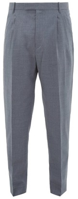Paul Smith Tailored Virgin-wool Crepe Trousers - Mens - Grey