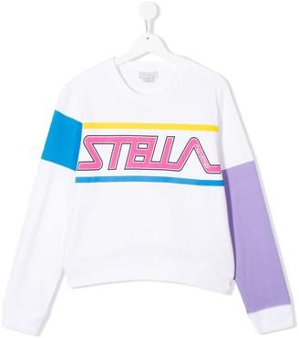 Stella McCartney TEEN logo print crewneck sweatshirt