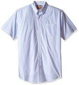 Wrangler Men's Big and Tall Classic Short Sleeve Woven Shirt
