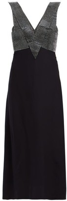 Christopher Kane Crystal-embellished Crepe Midi Dress - Black