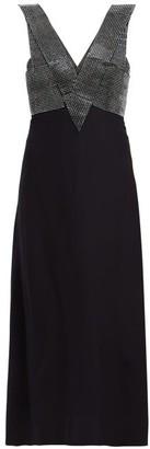 Christopher Kane Crystal-embellished Crepe Midi Dress - Womens - Black