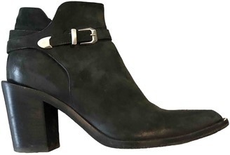 Sartore Black Leather Ankle boots