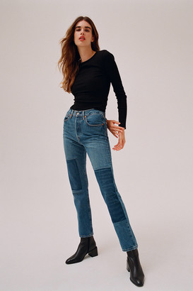 Levi's Levis 501 Straight Leg Jean Patching In