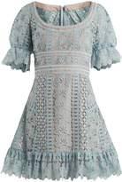 Self-Portrait Floral-lace mini dress