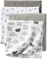 Carter's 4-Pack Flannel Receiving Blankets - Stripes
