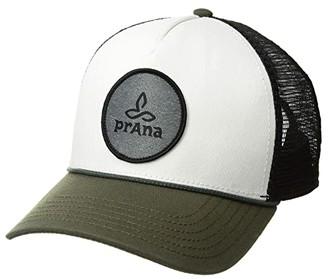 Prana Organic Cotton Patch Trucker (Cargo Green) Baseball Caps