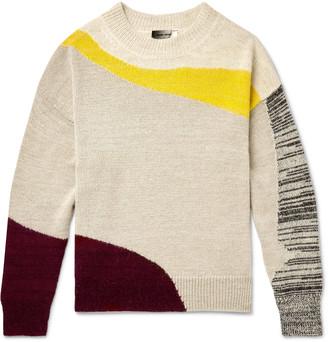 Isabel Marant Gally Colour-Block Alpaca-Blend Sweater