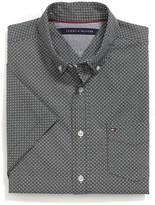 Tommy Hilfiger Geo Print Short Sleeve Custom Fit Shirt