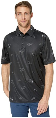 Straight Down Jig Polo (Black) Men's Clothing
