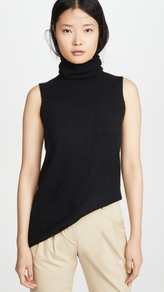 Vince Sleeveless Cashmere Turtleneck