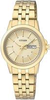 JCPenney Citizen Quartz Citizen Everyday Womens Gold-Tone Stainless Steel Bracelet Watch EQ0603-59P