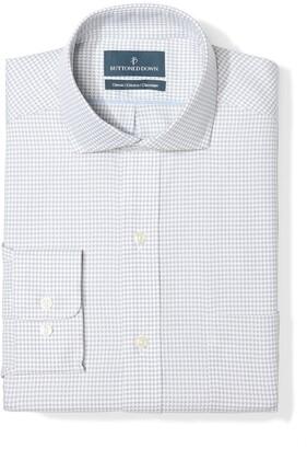 Buttoned Down Men's Classic Fit Cutaway Collar Pattern Non-Iron Dress Shirt