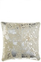 Calypso St. Barth Home Patched Cowhide Accent Pillow