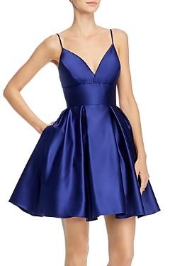 Aqua Fit-and-Flare Satin Dress - 100% Exclusive