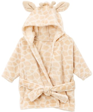 Hudson Baby Bath Robes Giraffe - Cream Giraffe Plush Fleece Bathrobe - Newborn