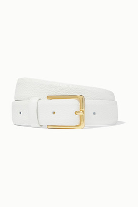 Andersons Textured-leather Belt - White