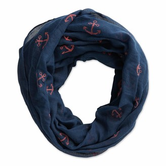 Dii Tickled Pink Women's Anchors Away Lightweight Infinity Scarf