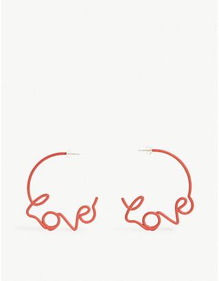 ZOE SHERWOOD Love stud earrings