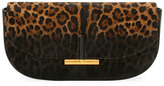Tom Ford Small Sasha Leopard-Print Calf Hair Clutch Bag, Black Pattern