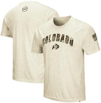 Colosseum Men's Oatmeal Colorado Buffaloes OHT Military Appreciation Desert Camo T-Shirt