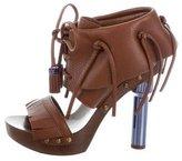Louis Vuitton Leather Fringe-Accented Sandals