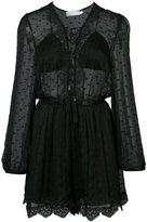 Zimmermann embroidered sheer playsuit - women - Silk - 0