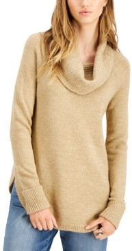 Style&Co. Style & Co Petite Waffle Cowlneck Sweater, Created for Macy's